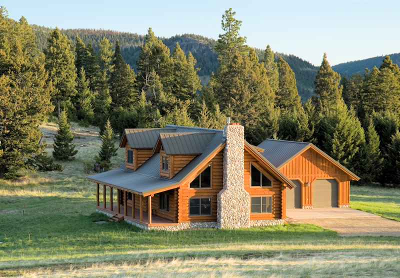 Wildfire mitigation for your log home real log style for Log home pictures exterior