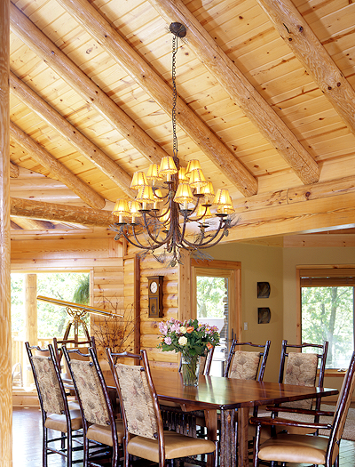 Lighten Up Your Log Home Real Log Style