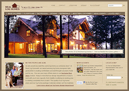New Real Log Homes Website