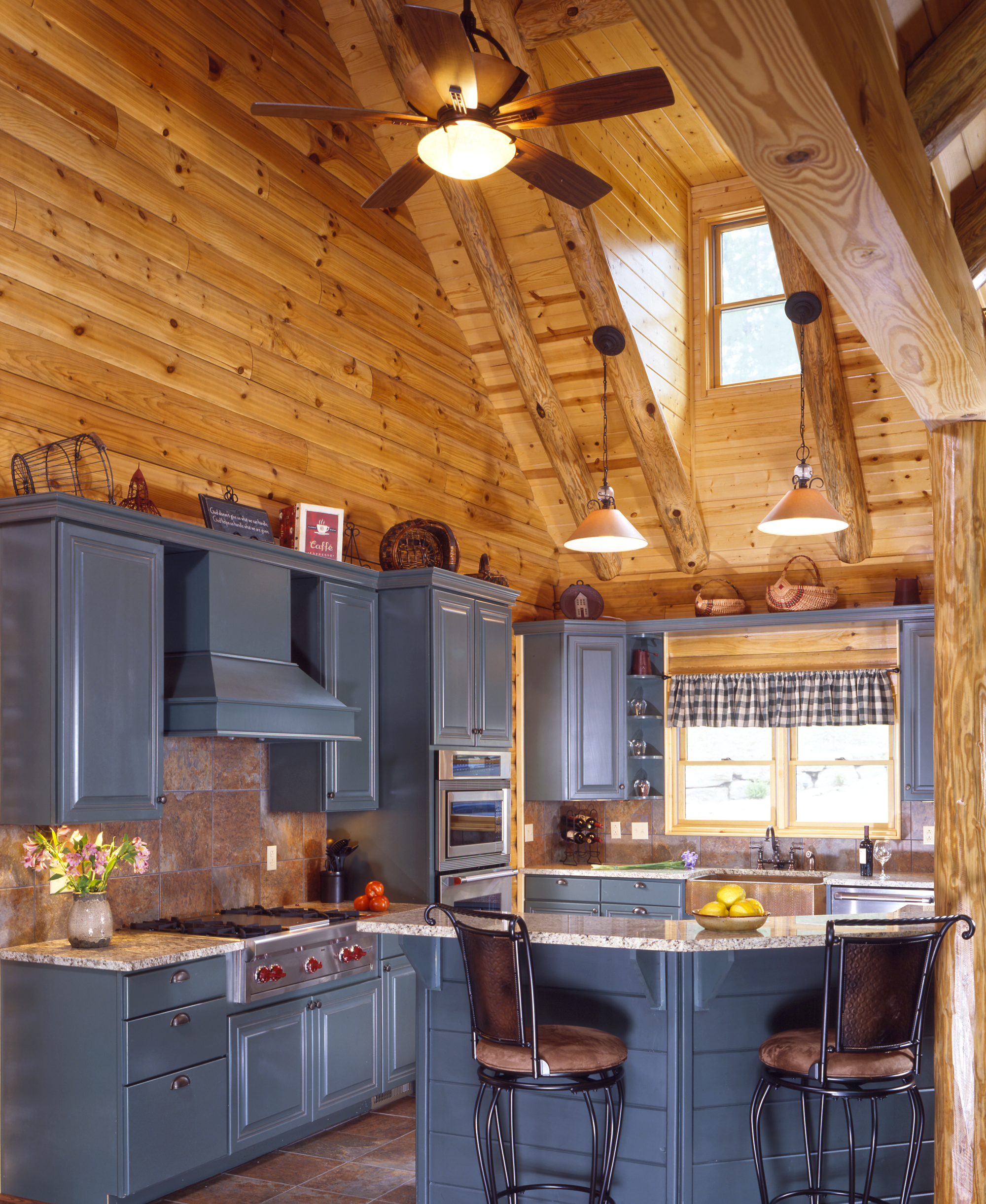 Home Kitchen: Cabin Kitchens « Real Log Style