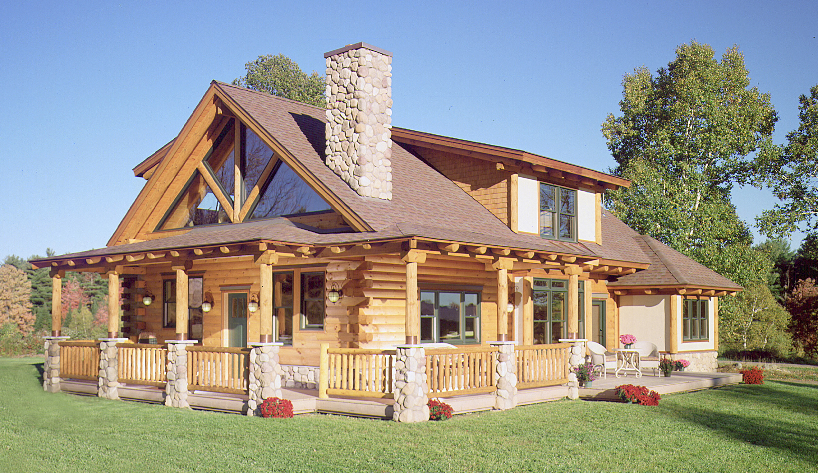 Exterior details for your log home real log style for Exterior house finishes