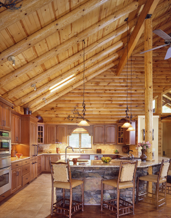 The AuSable Log Home Kitchen