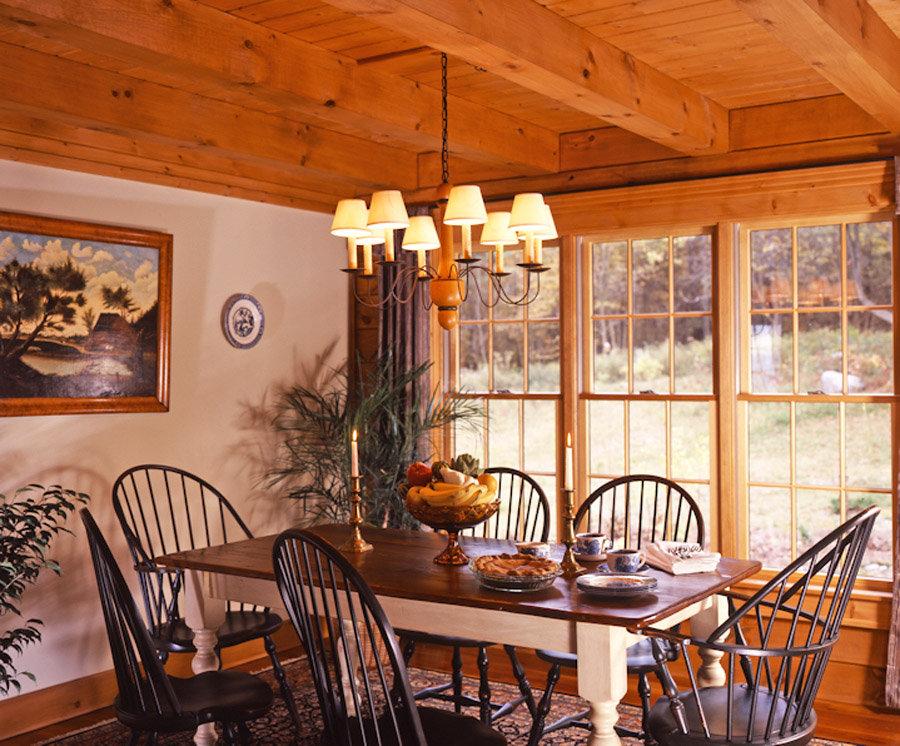 colonial dining rooms | log home for gatherings « Real Log Style « Page 2