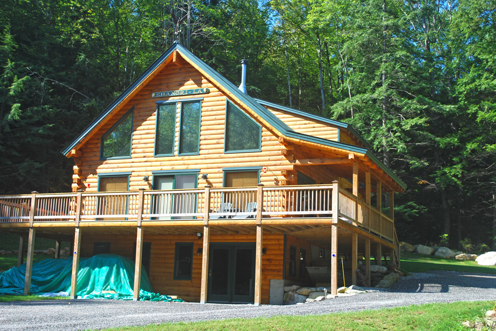 Log home plans walkout basement home design and style for Log cabin floor plans with walkout basement