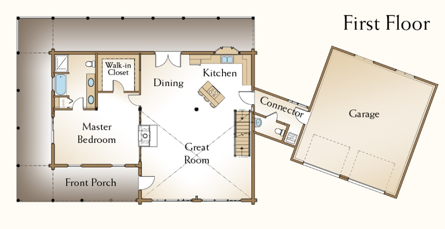 Cabin Floor Plans With Loft 24 X 30 Likewise 1600 Sq FT Split Level