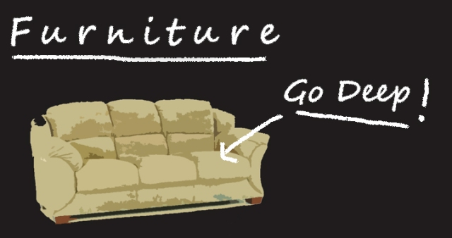 furniture chalkboard diagram