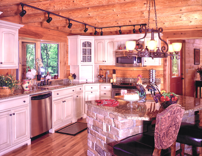 Cabin Kitchens Logs Home Kitchens House Country