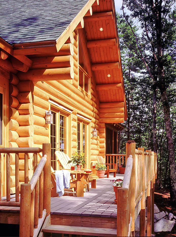 Real log style s top new year s resolution plan ahead for Log home decks