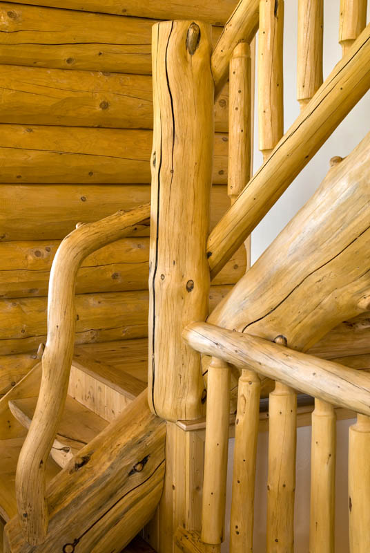 L-shaped Staircases « Real Log Style