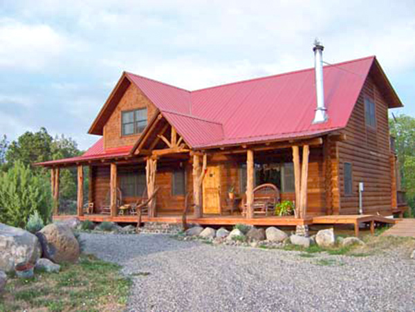 Cedaredge Small Log Home Plan With Front Porch