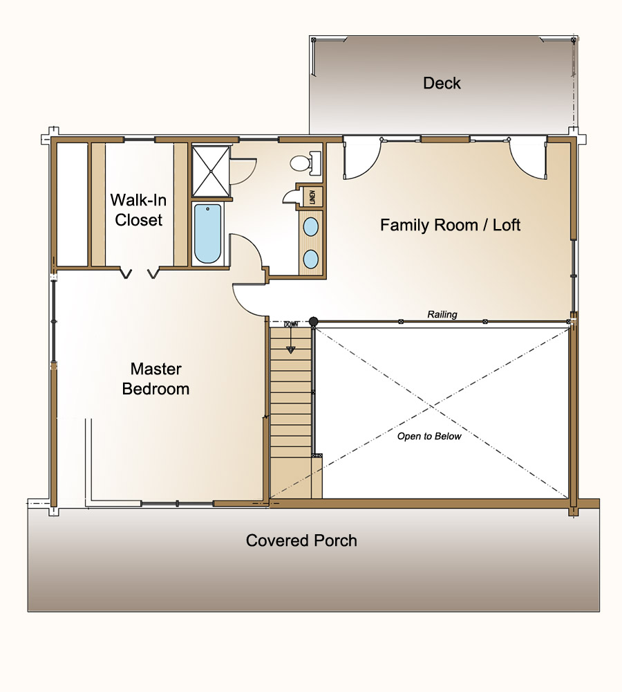One bedroom log cabin plans with loft joy studio design One bedroom cottage plans