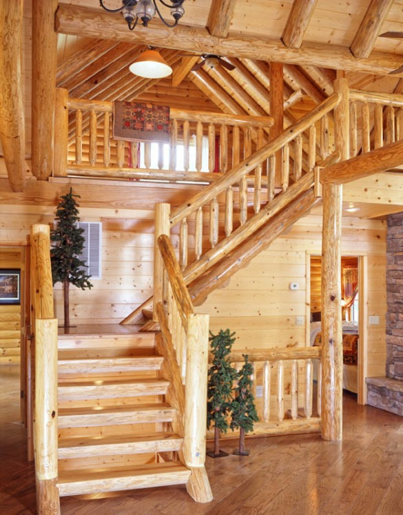rustic stair railings