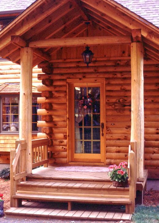 Magnificent Log Home Front Door Options Real Log Homes Interior Design Ideas Inesswwsoteloinfo