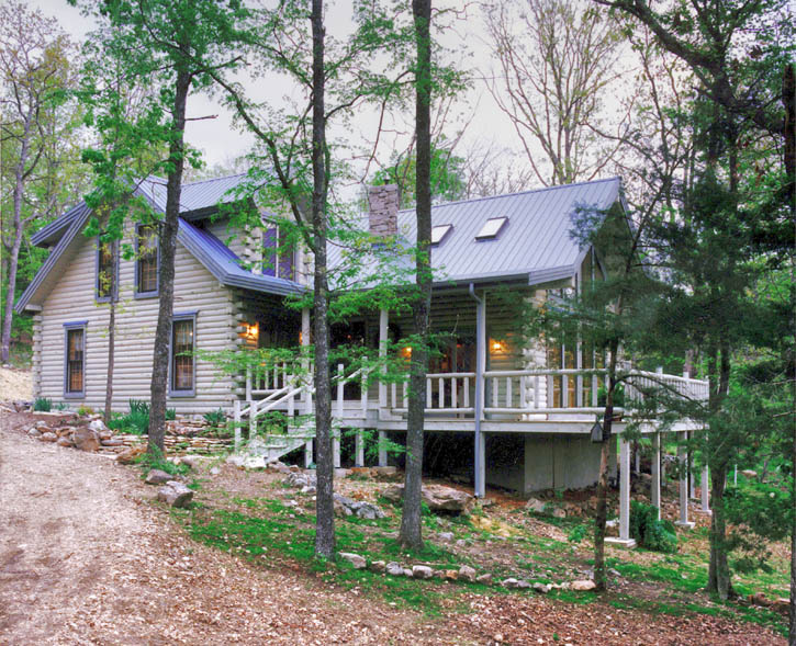 Exterior: Log Home Stain - A Touch Of Gray
