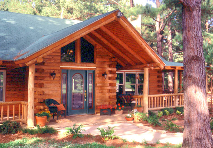 Log Home Front Door Options | Real Log Homes