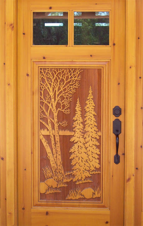 Carved doors « real log style
