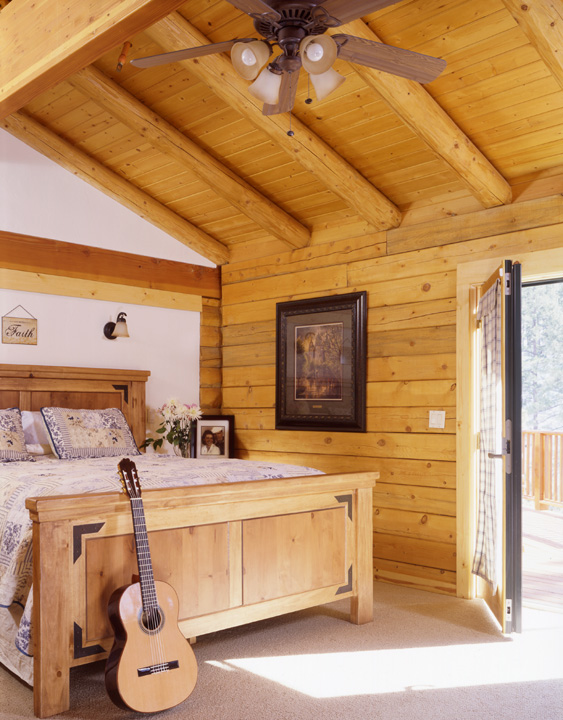All About VOCs Real Log Homes Classy Log Home Bedrooms