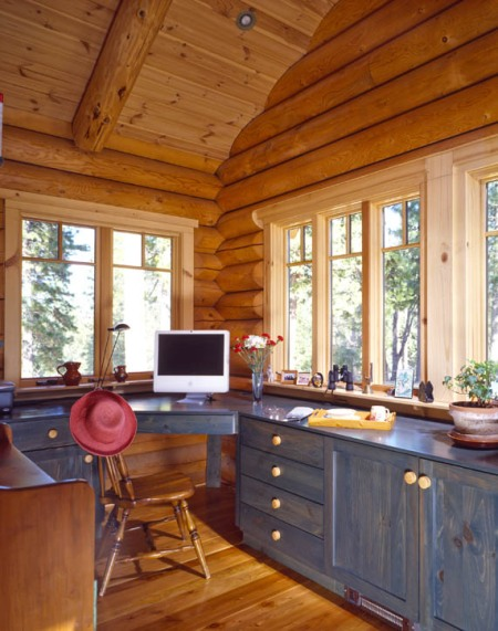 Log Home Office