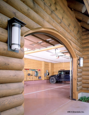 Log Home Custom Garage Addition