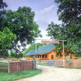Real Log Home Texas Ranch