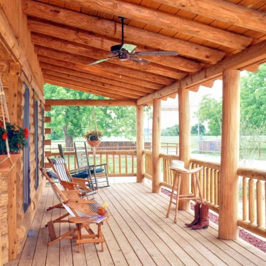 Circle 9 Ranch A Real Log Home Texas Retreat Real Log Style