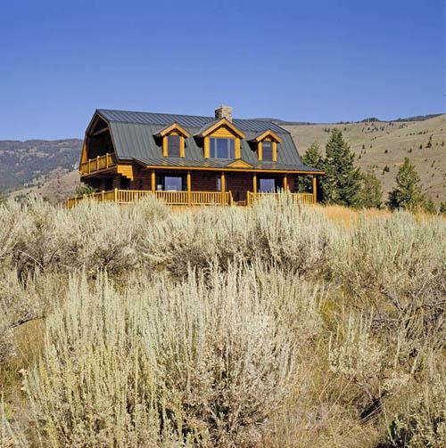 A Montana Log Home: Real Log Homes Goes Custom « Real Log ...