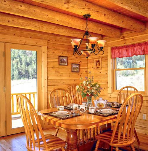 Log Home Dining Room