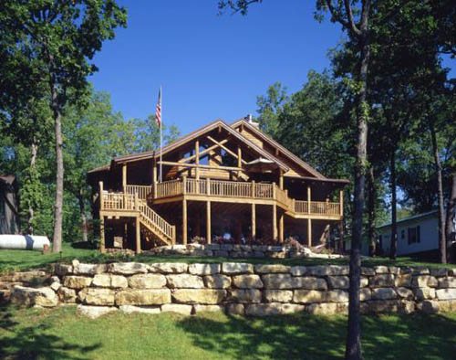 Missouri Log Home | Log Home Lake House