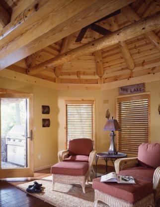 Missouri Log Home | Log Home Den