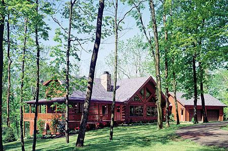 Log Home in Kentucky   Log Home Construction
