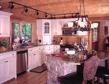 Log Home Kitchen | Country Kitchen