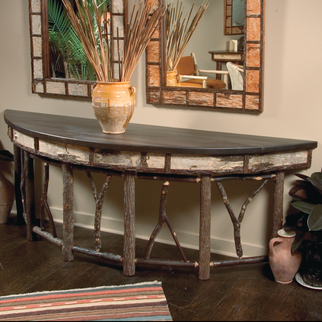 Adirondack Style Table This Rustic Table From Black Forest Decor