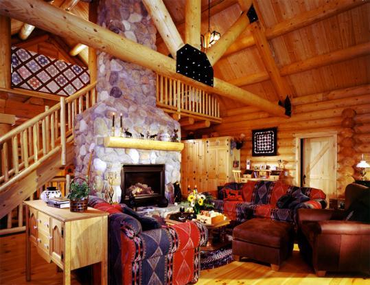The Moultonboro Log Home Floor Plan « Real Log Style