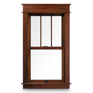 Window choices for your log home real log homes for Andersen 400 series double hung windows cost