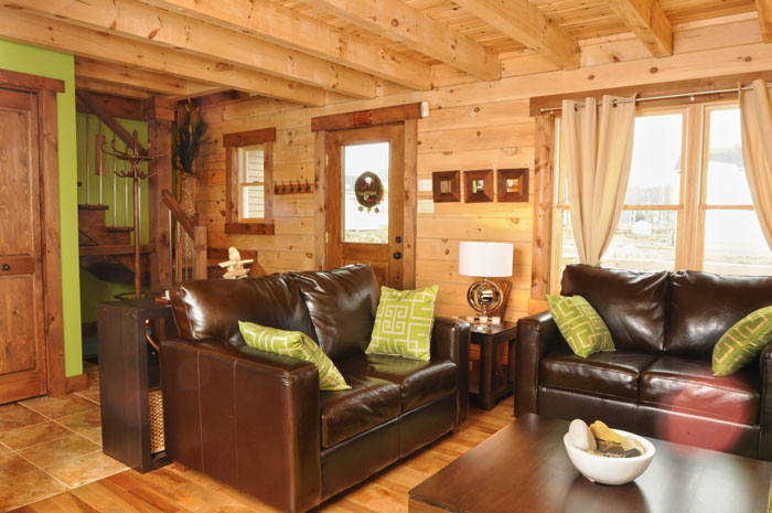 bring some color to your log home real log homes