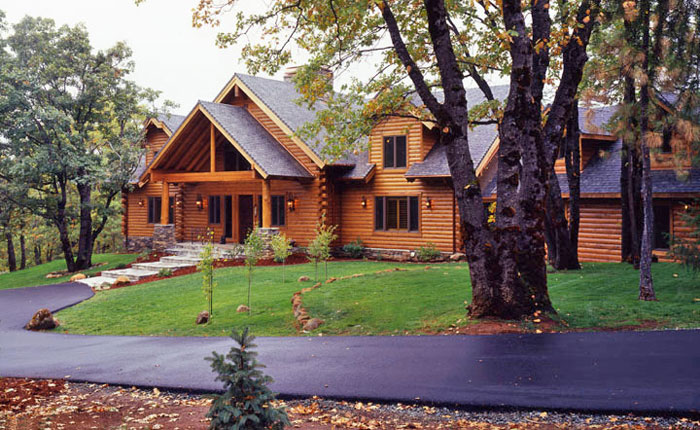 Driveway Types For Your Log Home Real Log Style