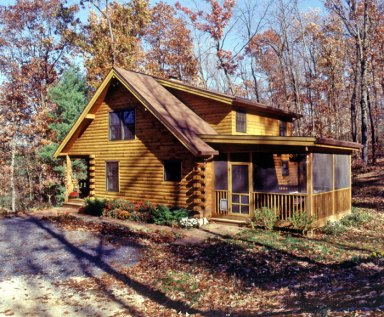 Real log style log home plans design and decor page 13 for Log cabin screened in porch