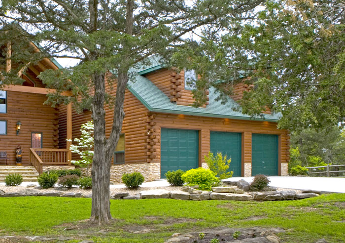 Garage Upgrades For Your Log Home Real Log Style