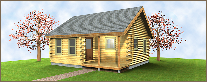 The Voyager is a mid-sized cabin plan perfect for short vacations and hunting trips alike.