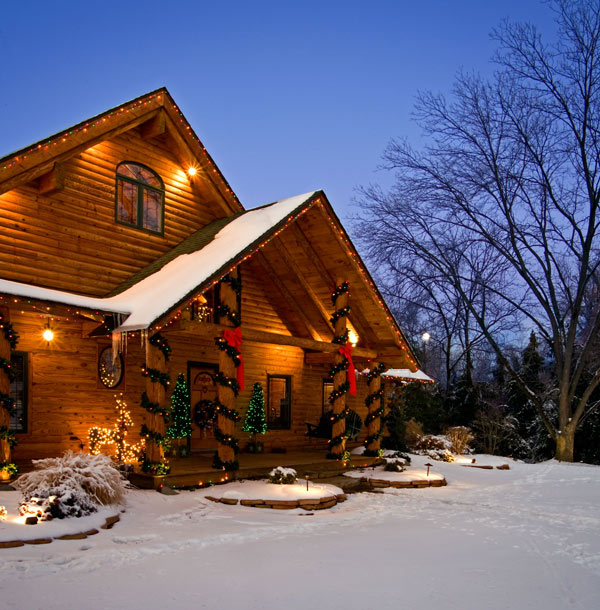 Log Home Kitchens Real Log Style: Holiday Safety For Log Home Owners « Real Log Style