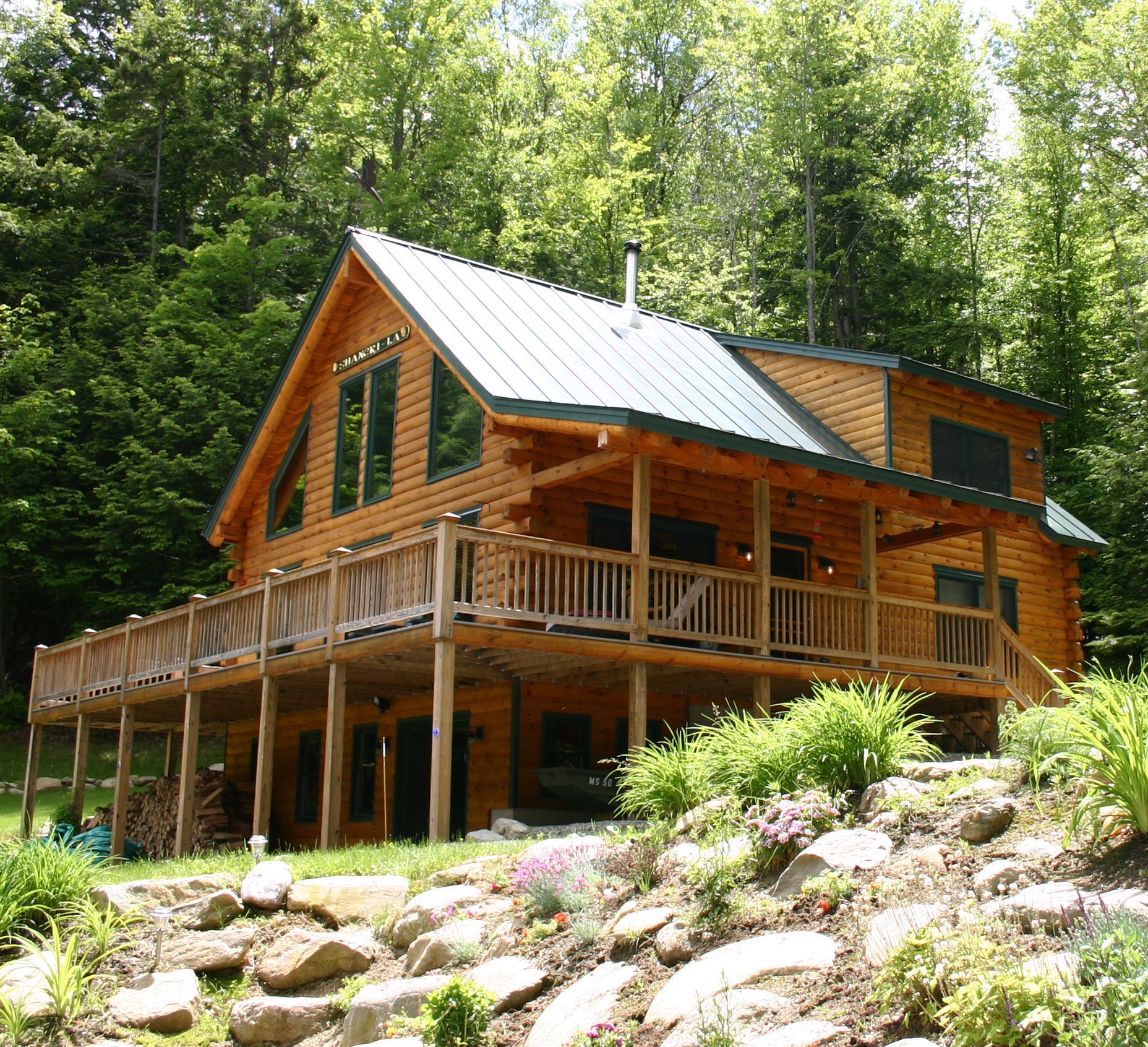 This Home Was A Modified Real Log Home Augusta
