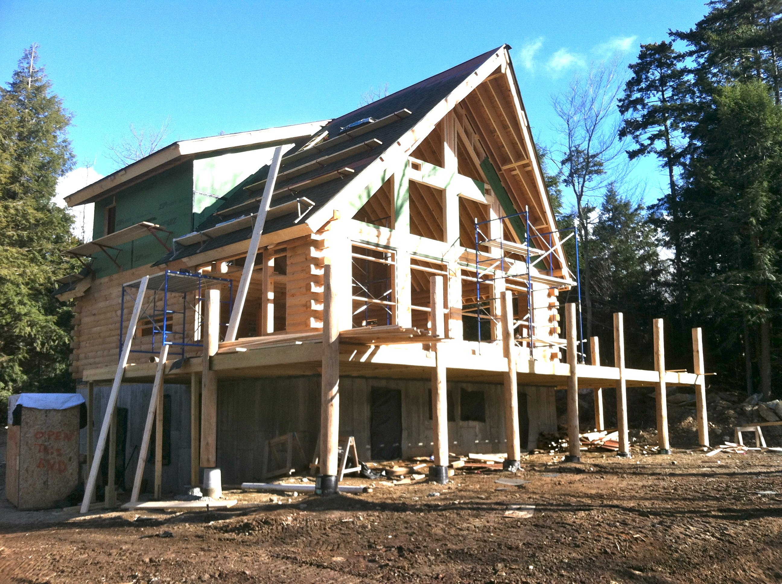 Real log homes support homepath and beyond real log style for Home builders in vermont